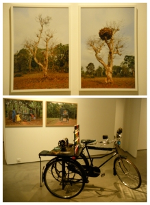 (T)Nest, Inkjet print on photo paper, (B)Tailor Mama, Modified cycle and sewing machine and Inkjet on photo paper