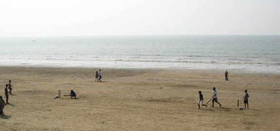 Cricket on the beach.