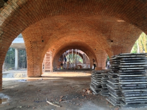 Brick domes for house in Alibaug, Image courtesy Nitin Barchha